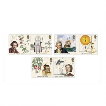 Captain Cook Mint Stamp Set