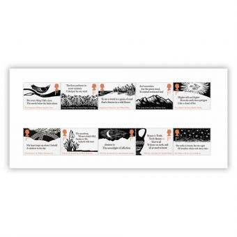 The Romantic Poets Stamp Set