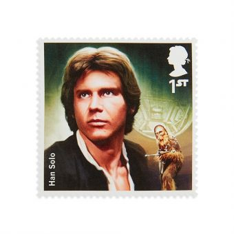 Royal Mail Star Wars 2015 Han Solo Stamp Set
