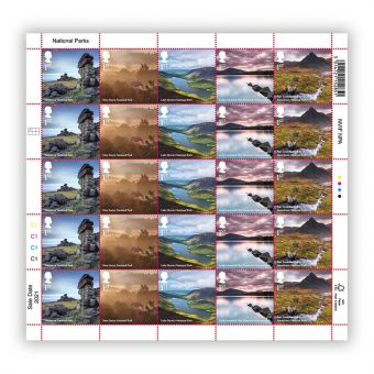 National Parks 1st Class x 25 Dartmoor Sheet