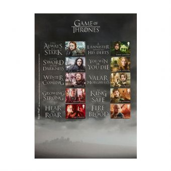 At102 Royal Mail Game Of Thrones Collectors Sheet 1