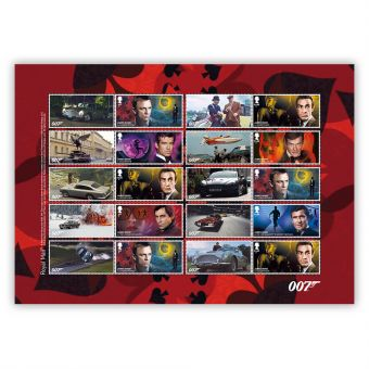 James Bond Collector's Sheet