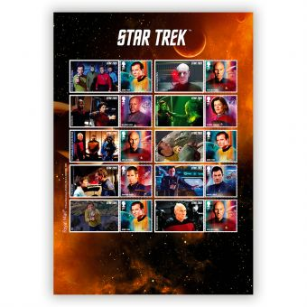 Star Trek Captains Collector Sheet