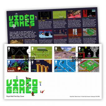 Video Games Stamp Souvenir