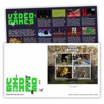 Video Games Miniature Sheet Stamp Souvenir