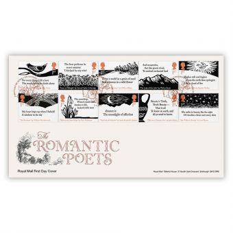 The Romantic Poets Stamp Souvenir