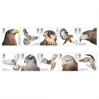 Birds of Prey Set of 10 Stamps