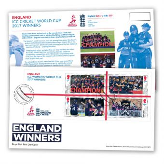 Cricket First Day Cover – Women's Win Minisheet
