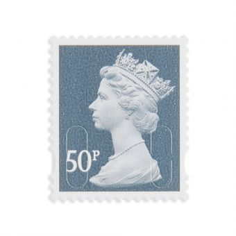 Royal Mail 25 x 50P Stamp Sheet