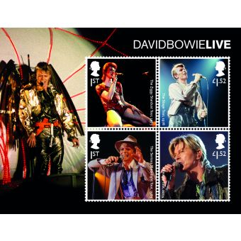 Royal Mail David Bowie Live Stamp Sheet