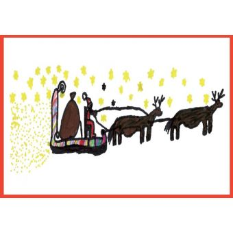 Royal Mail Action For Children Christmas Cards 2019 Sleigh-Pack