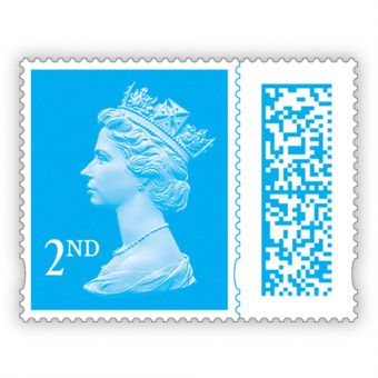 Machin 2nd Class Definitive Barcoded Mint Stamp