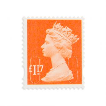 Royal Mail New Definitives 2017 Machin Definitive Mint Stamp Sunrise Red 1.17 1