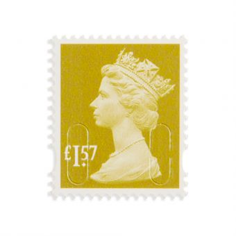 Royal Mail New Definitives 2017 Machin Definitive Mint Stamp Tarragon Green 1.57 1