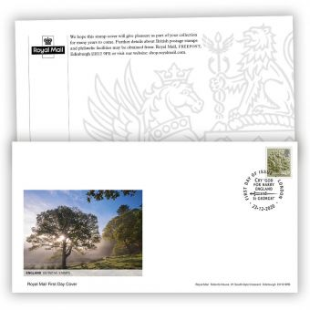 2021 Country Definitive First Day Cover - England with London Postmark