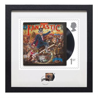 Elton John Framed Captain Fantastic and The Brown Dirt Cowboy Print and Stamp