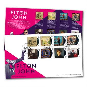 Elton John Special Stamps First Day Cover