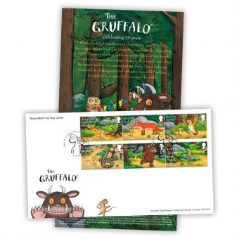 The Gruffalo First Day Cover - Stamps (Mousehole, Penzance postmark)