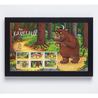 The Gruffalo Framed Stamps with the Gruffalo Background