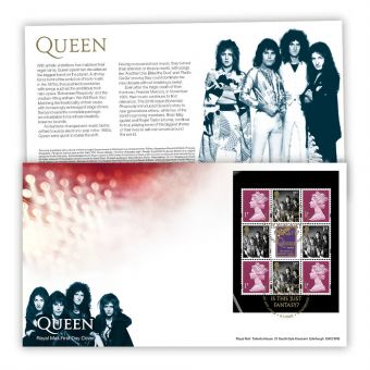 Queen Prestige Stamp Book First Day Cover (Knebworth)
