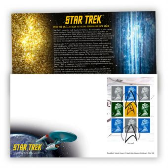 Star Trek Prestige Stamp Book First Day Cover with Tallents House Postmark