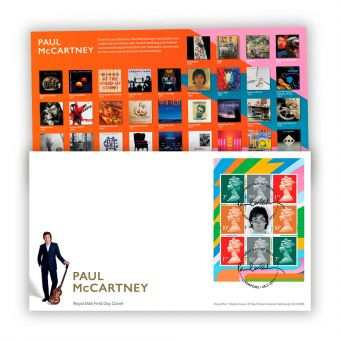 Paul McCartney First Day Cover - PSB Pane with Liverpool Postmark