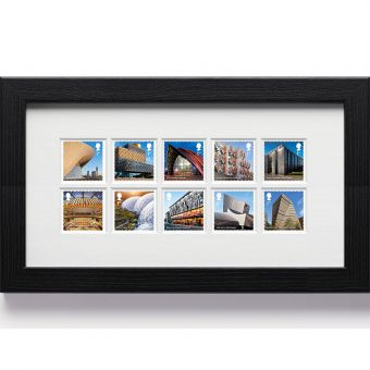 Landmark Buildings Framed Stamps