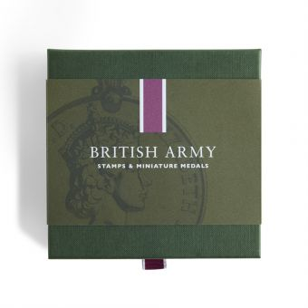 Royal Mail British Army Stamps and Miniature Medal