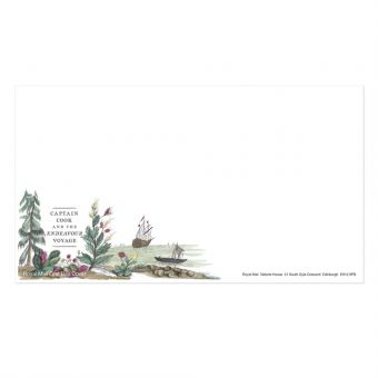 Royal Mail Captain Cook Miniature Sheet First Day Cover Envelope