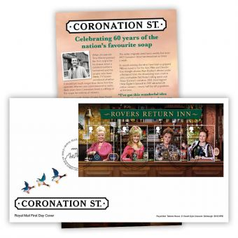 Coronation Street First Day Cover Stamp Sheet (Tallents House)