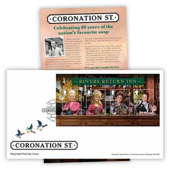 Coronation Street First Day Cover Stamp Sheet (Salford)