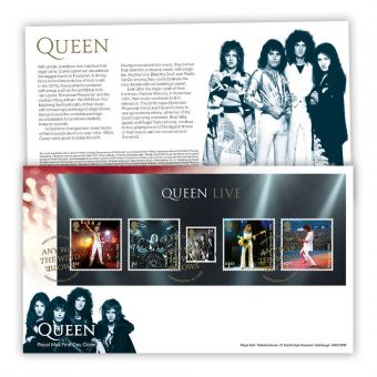 Queen First Day Cover Miniature Sheet (Knebworth)