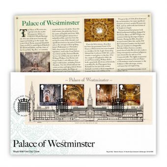Palace of Westminster First Day Cover Miniature Sheet (Tallents House Postmark)