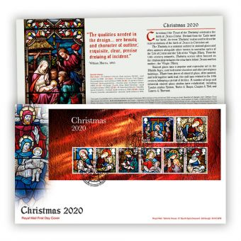 Christmas 2020 First Day Cover Miniature Sheet with Bethlehem, Llandeilo Postmark