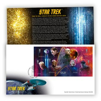 Star Trek First Day Cover - Stamp Sheet with Beambridge, Craven Arms Postmark