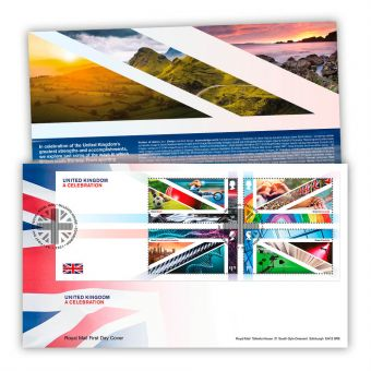 United Kingdom: A Celebration First Day Cover Miniature Sheet with Tallents House Postmark