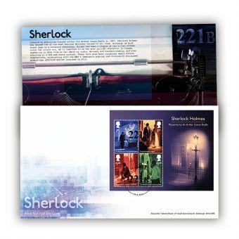 Sherlock First Day Cover Miniature Sheet (London, NW1 Postmark)