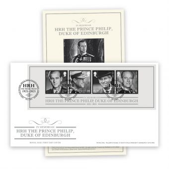 In Memoriam, HRH The Duke of Edinburgh First Day Cover with Tallents House Postmark