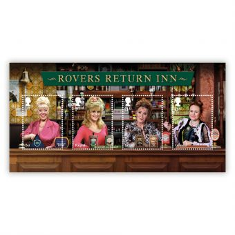 Coronation Street Rovers Return Stamp Sheet