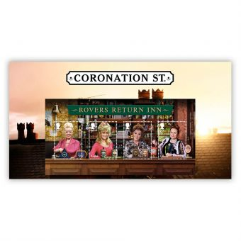 Coronation Street Rovers Return Stamp Sheet Set