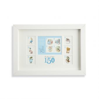 N3084 Royal Mail Framed Beatrix Potter Stamps And Stamp Sheet Front