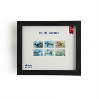 N3120 Royal Mail Raf Centenary Framed Set Of Stamps