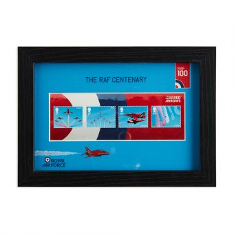 N3121 Royal Mail Raf Centenary Framed Red Arrows Miniature Sheet