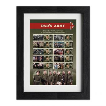 Dad's Army Framed Collector's Stamp Sheet