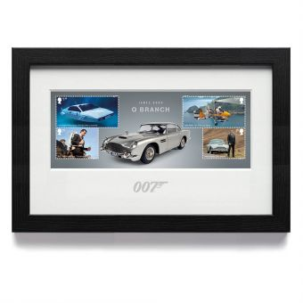 James Bond Q Branch Framed Miniature Sheet