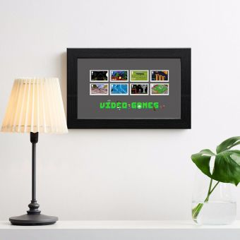 Video Games Framed Stamps
