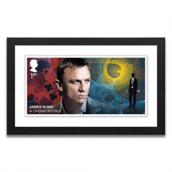 Framed Casino Royale Enlarged Stamp Print