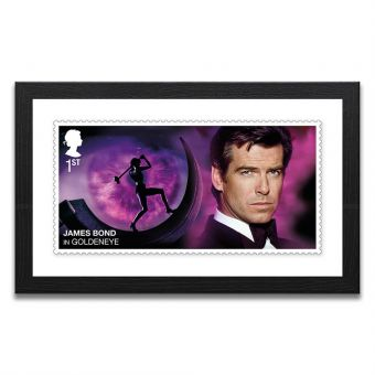 Framed GoldenEye Enlarged Stamp Print