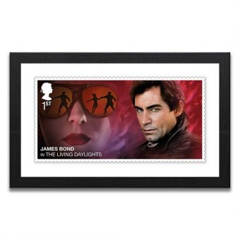 Framed The Living Daylights Enlarged Stamp Print