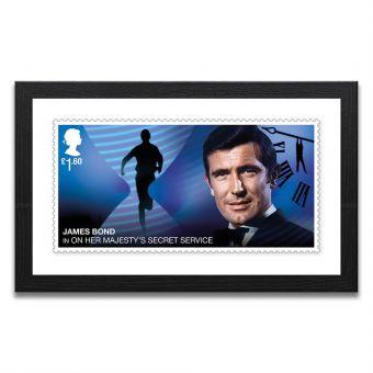 Framed On Her Majesty's Secret Service Enlarged Stamp Print